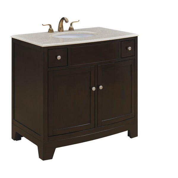 "36"" Simone Single Bathroom Vanity Set in Dark brown"