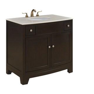 """36"""" Simone Single Bathroom Vanity Set in Dark brown"""