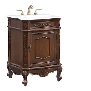 """24"""" Hastings Single Bathroom Vanity Set in Coffee"""