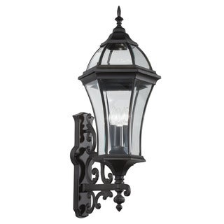Kichler Lighting Townhouse Collection 3-light Black Outdoor Wall Lantern