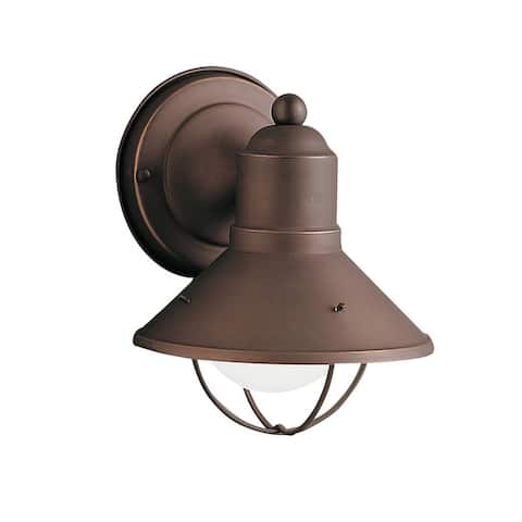 Kichler Lighting Seaside Collection 1-light Olde Bronze Outdoor Wall Sconce