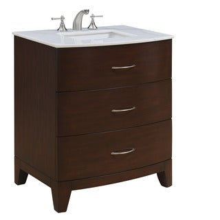 "30"" Weimar Single Bathroom Vanity Set in Brown"