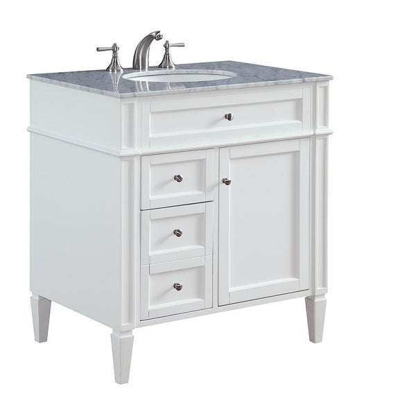 Shop 32 madison single bathroom vanity set in white - Bathroom vanities 32 inches wide ...