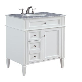 "32"" Madison Single Bathroom Vanity Set in White"