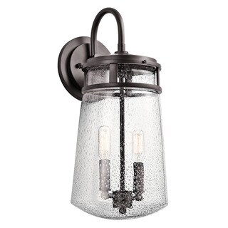 Kichler Lighting Lyndon Collection 2-light Architectural Bronze Outdoor Wall Sconce