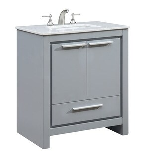 "30"" Bitola Single Bathroom Vanity Set in Grey"