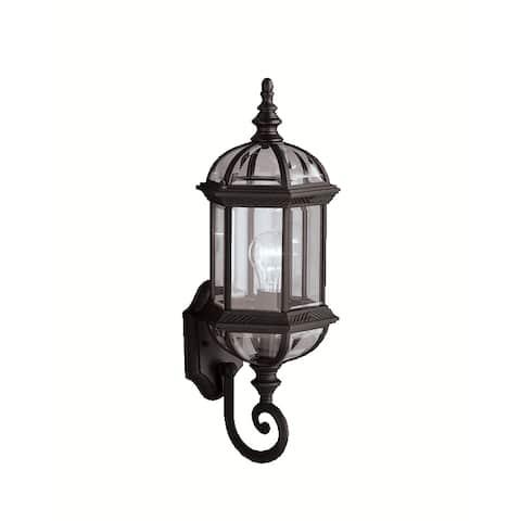 Gracewood Hollow Lleshanaku 1-light Black Outdoor Wall Lantern