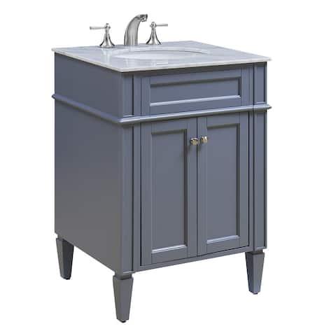 "24"" Madison Single Bathroom Vanity Set in Grey"
