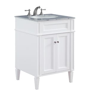 "24"" Madison Single Bathroom Vanity Set in White"
