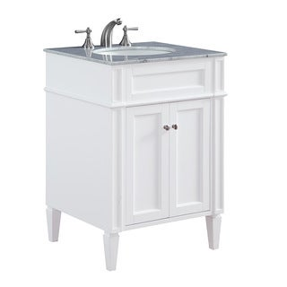 "24"" Madison Single Bathroom Vanity Set in White"