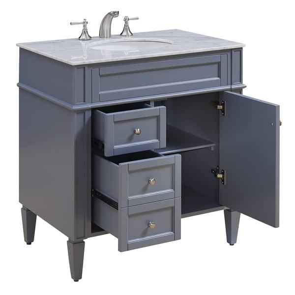 32 Madison Single Bathroom Vanity Set In Grey Overstock 13449558