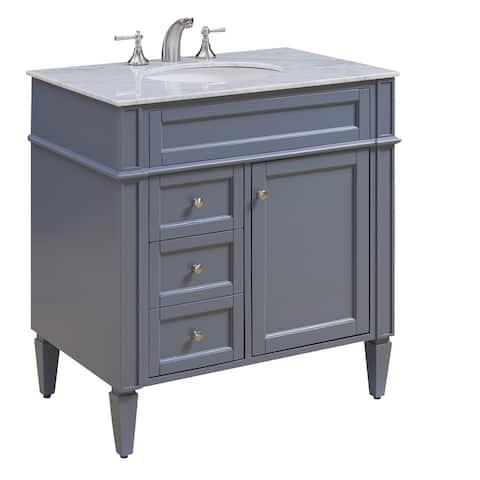 "32"" Madison Single Bathroom Vanity Set in Grey"