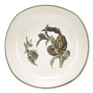 Lorren Home Trend Artichoke Green Ceramic 9.5-inch Soup/ Pasta Bowls Made In Italy (Set of 4)