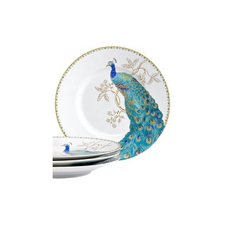 222 Fifth Peacock Garden Porcelain Salad Plates (Set of 4)