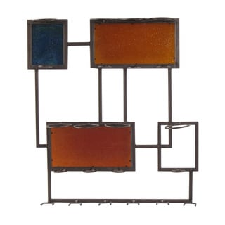 Artistic Metal and Wood 8-bottle Wall Mount Wine Storage Rack