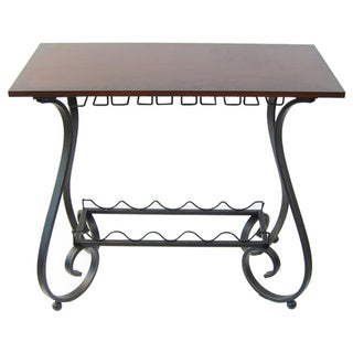 Link to Wood and Metal Curved Leg Wine Storage Console Table Similar Items in Kitchen Storage