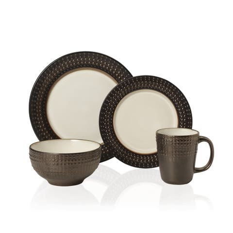 Gourmet Basics by Mikasa Avery Stoneware 16-piece Stoneware Dinnerware Set