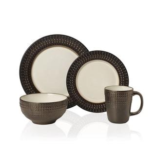 Pfaltzgraff Everyday Gourmet B. Mikasa Avery 16-piece Stoneware Dinnerware Set  sc 1 st  Overstock.com & Brown Dinnerware For Less | Overstock