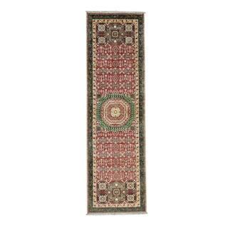 Hand-Knotted Mamluk Fine Wool Oriental Runner Rug (2'10x9'7)