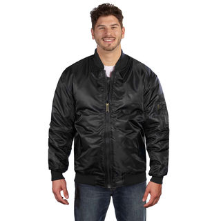 Air Force Men's MA-1 Black Nylon Reversible Military Bomber Flight Alpha Jacket