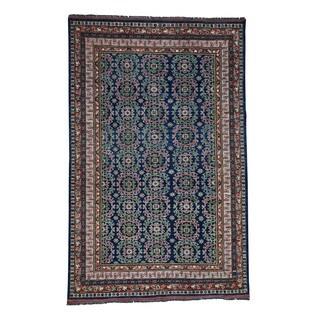 Hand-Knotted Afghan Ersari With Khotan Design Wool Rug (6'2x9'10)