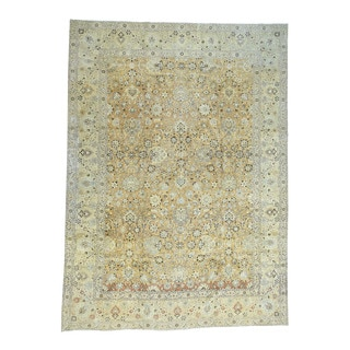 Hand-Knotted Antique Persian Tabriz With Abrash Rug (9'6x13'1)