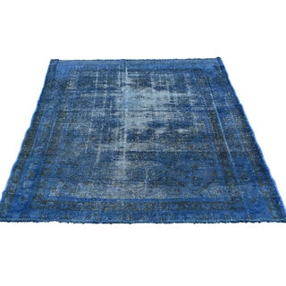 """Hand-Knotted Persian Lilahan Fine Wool Overdyed Rug (3'9""""x5')"""