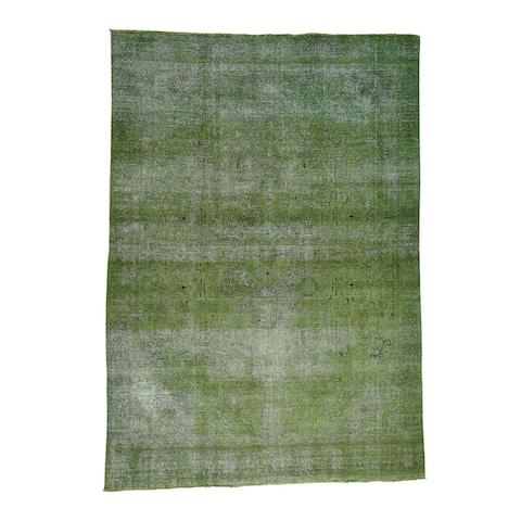 Handmade Persian Tabriz Fine Wool Overdyed Rug
