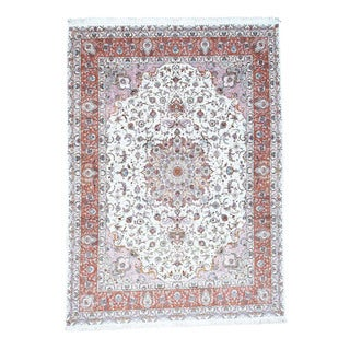 Hand-Knotted Persian Tabriz 400 Kpsi Wool and Silk Rug (9'6x13'3)