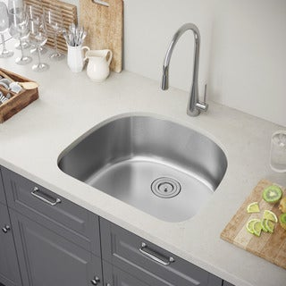 Exclusive Heritage 24 x 21 Single Bowl Undermount Stainless Steel Kitchen Sink