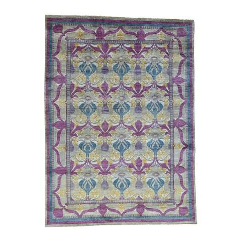 Arts And Crafts William Morris Design Fine Wool Rug - 9'2x12'6