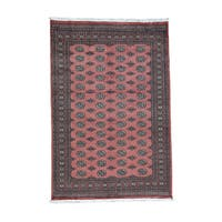 Hand-Knotted Tribal Design Bokara Fine Wool Rug (6'2x9'2)