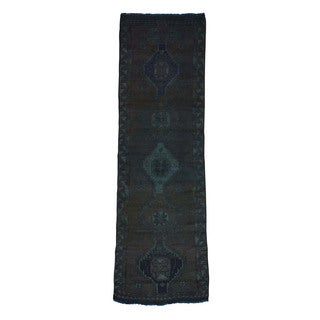 Hand-Knotted Overdyed Persian Shiraz Runner Rug (3'10x12'6)