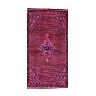 "Hand-Knotted Overdyed Persian Shiraz Fine Wool Runner Rug (3'1""x6')"