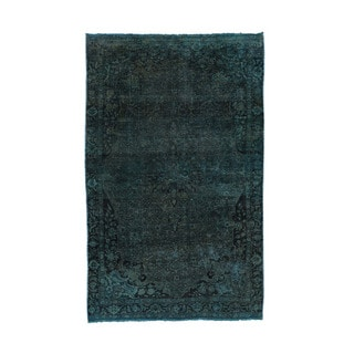 Hand-Knotted Overdyed Persian Tabriz Fine Wool Rug (4'4x6'10)
