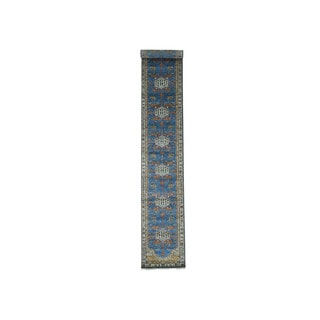 "Antiqued Bakshaish Hand-Knotted Fine Wool Runner Rug (2'7""x15')"