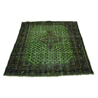 Handmade Overdyed Persian Hamadan Fine Wool Rug (3'9x4'6)