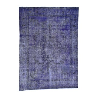 """Hand-Knotted Overdyed Persian Tabriz Fine Wool Rug (9'6""""x13')"""