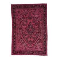 Hand-Knotted Overdyed Persian Bibikabad Fine Wool Rug (6'10x9'10)