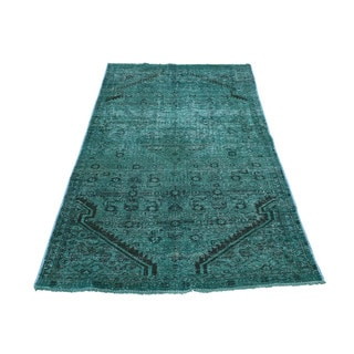 "Fine Wool Hand-Knotted Overdyed Hamadan Rug (3'x5'6"")"
