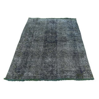 Hand-Knotted Overdyed Tabriz Fine Wool Rug (3'2x5'1)