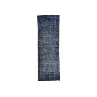 Hand-Knotted Overdyed Bakhtiari Fine Wool Runner Rug (3'4x9'10)