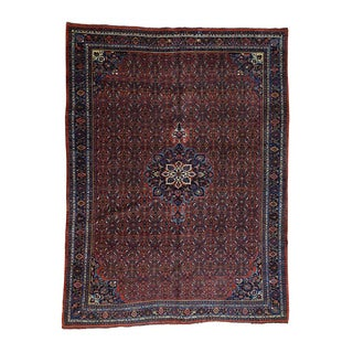 Antique Persian Bidjar Hand-Knotted Rug (10'5x13'9)