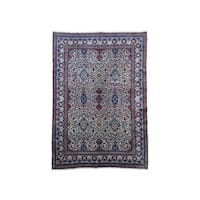 Hand-Knotted Vintage Persian Birjand Rug (8'1x11'9)