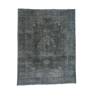 Hand-Knotted Persian Tabriz Overdyed Fine Wool Rug (9'5x12'3)