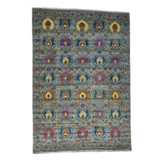 "Hand-Knotted Arts And Crafts Vegetable Dyes Fine Wool Rug (10'x14'2"")"