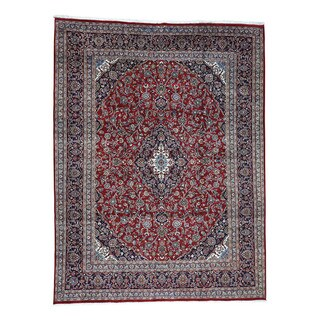 Hand-Knotted Fine Wool Kashan Rug (9'8x12'9)