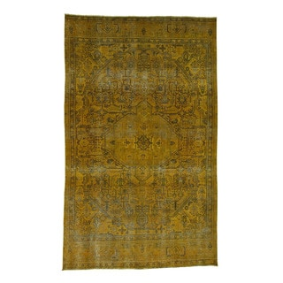 """Hand-Knotted Overdyed Tabriz Fine Wool Rug (8'x12'10"""")"""