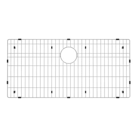 Exclusive Heritage 33 x 16-inch Premium Grade T-304 Stainless Steel Kitchen Sink Bottom Grid Basin Rack