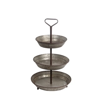 Privilege Silver Metal 3-tier Tray